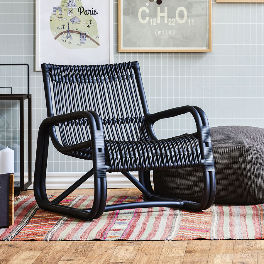 CURVE Lounge Chair - Cane-line Indoor Collection - WGU Design