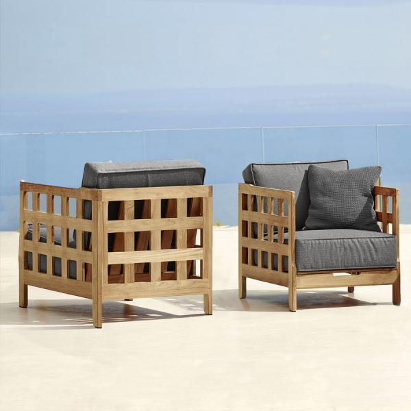 SQUARE Lounge Chair - Cane-line Outdoor Collection - WGU Design Australia