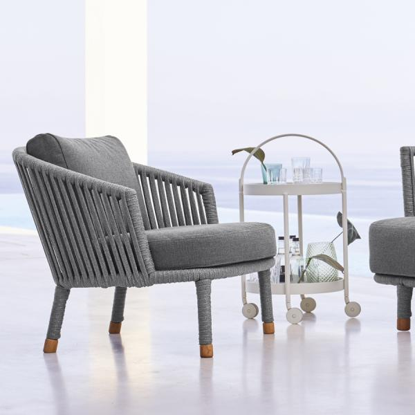 MOMENTS Lounge Chair by Cane-line - WGU Design Outdoor Collection