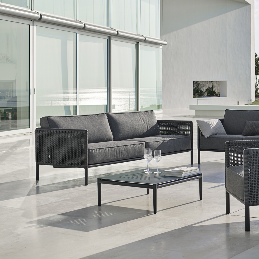Encore 3 Seater Sofa Cane Line Outdoor Collection Wgu Design