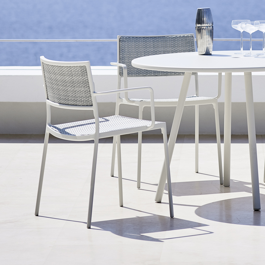 Less dining chair cane line outdoor collection wgu design for Designer chairs for less