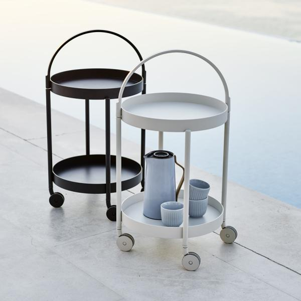 ROLL Trolley Table - Cane-line - WGU Design Outdoor