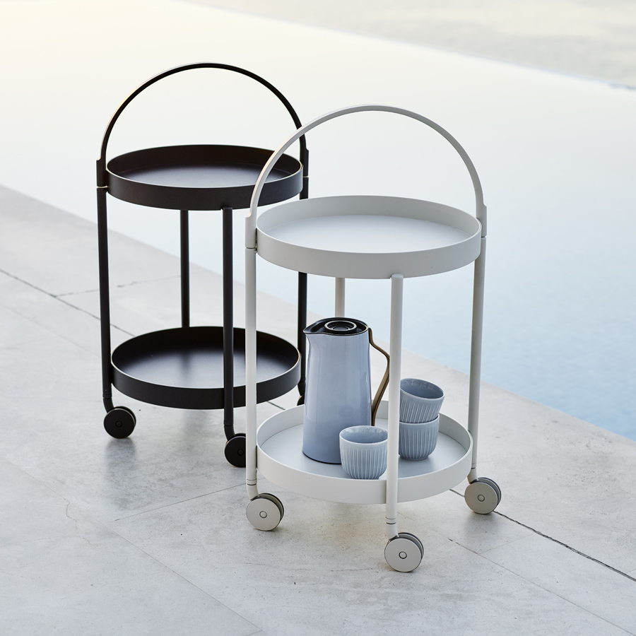 ROLL Trolley Table   Cane Line   WGU Design Outdoor