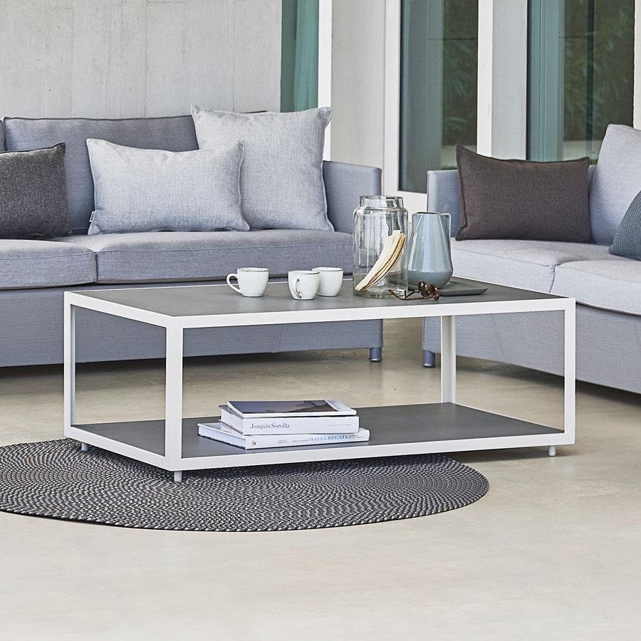 LEVEL Coffee Table   Cane Line Outdoor   WGU Design