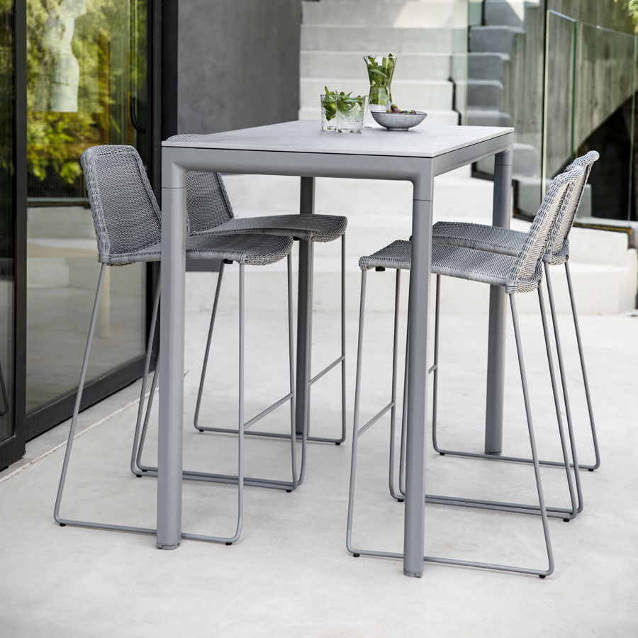 Drop Bar Table Cane Line Collection Wgu Design Outdoor